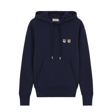 Hoodie Double Fox Head Patch Navy (Unisex)
