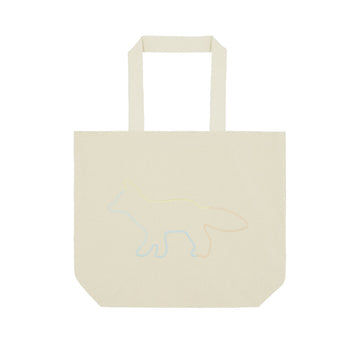 Tote Bag Rainbow Profile Fox Ecru U