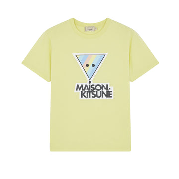 Tee Shirt Rainbow Triangle Fox Print Lemon (Men)