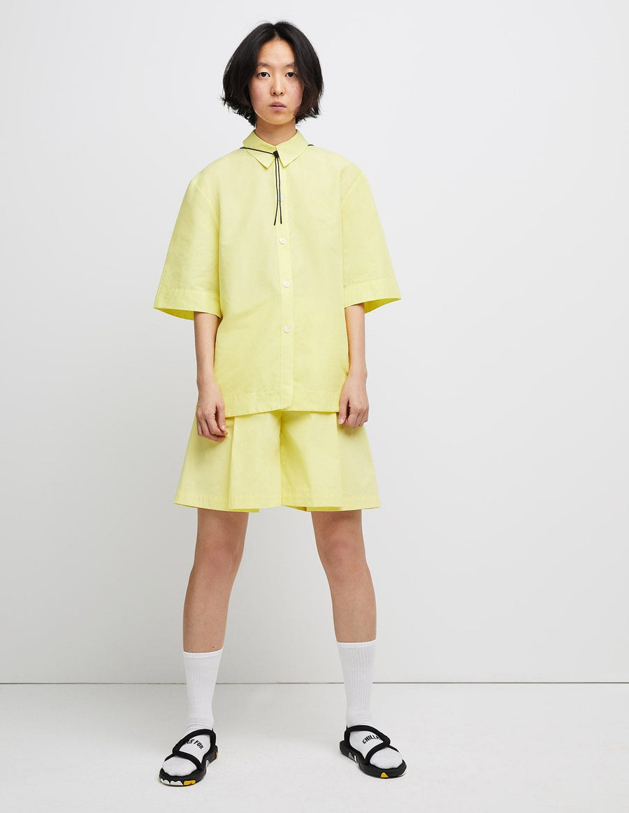 Shorts 2 Pleats Bermuda Lemon