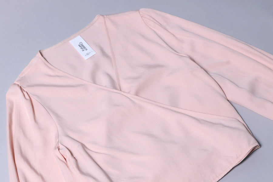 ashley wrap blouse pink