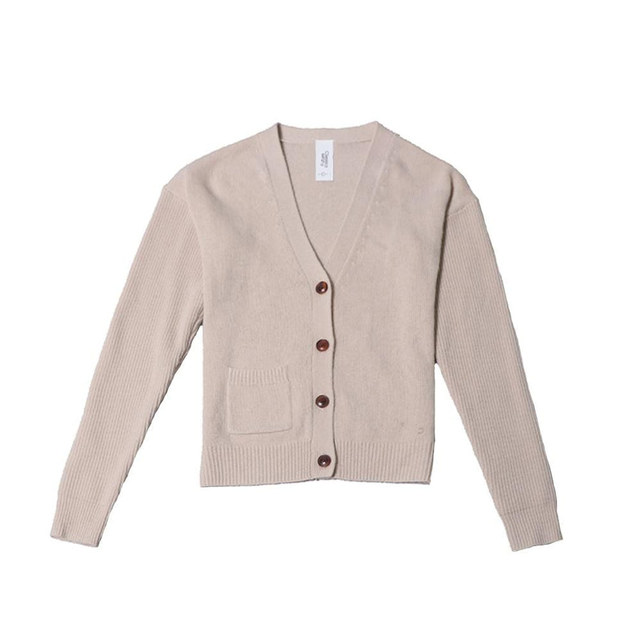 carolyn wool cardigan beige