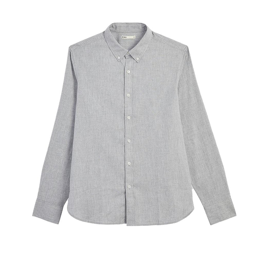AW20 LS Shirt Fulton Peached Oxford Grey
