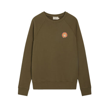 Sweatshirt Flower Fox Patch Khaki (women)