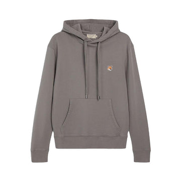 Hoodie Fox Head Patch Dark Grey (unisex)