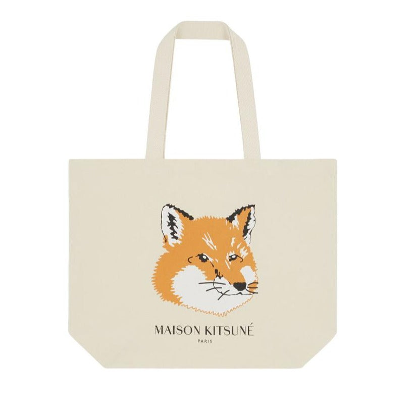 Tote Bag Fox Head Ecru U