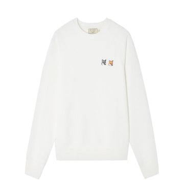 Sweatshirt Double Fox Head Patch Latte (Women)