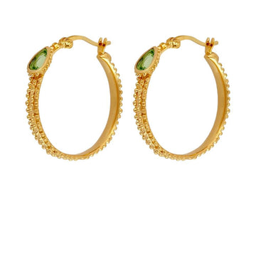 Gigi Hoop Earrings Gold