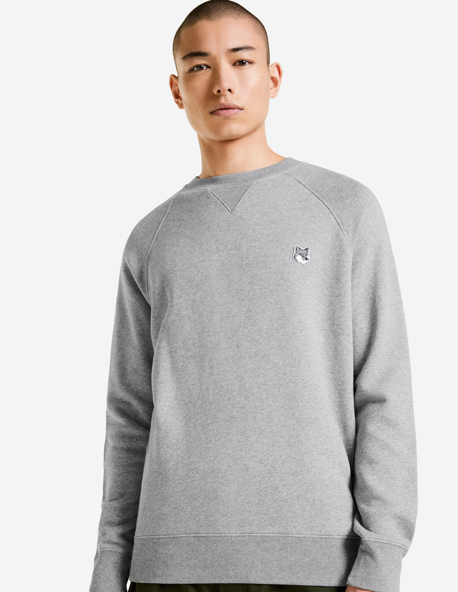 Grey Fox Head Patch Classic Sweatshirt Grey Melange (men)