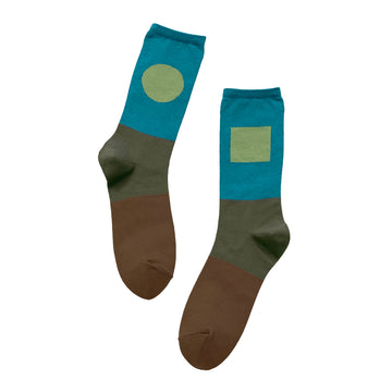 Socks One Pair Man Green OS
