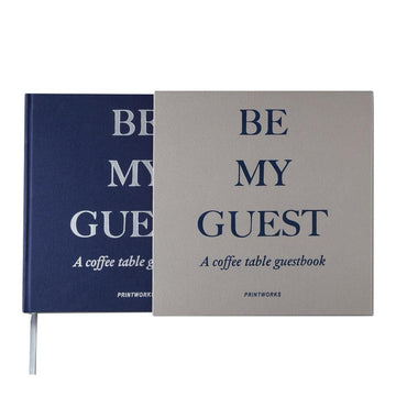 Guest Book - Grey/Navy