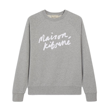 Sweatshirt Handwriting Clean Grey Melange (Men)