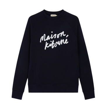 Sweatshirt Handwriting Clean Navy (Men)