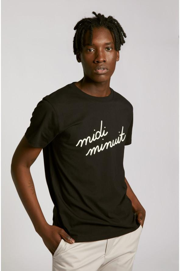 Heavy Tee-Shirt Midi Minuit Black (men)