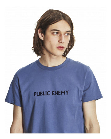 Heavy Tee Shirt Public Enemy Fjord Blue (Men)