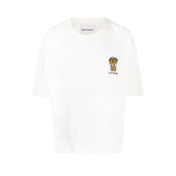 Little Feet Big Tee White