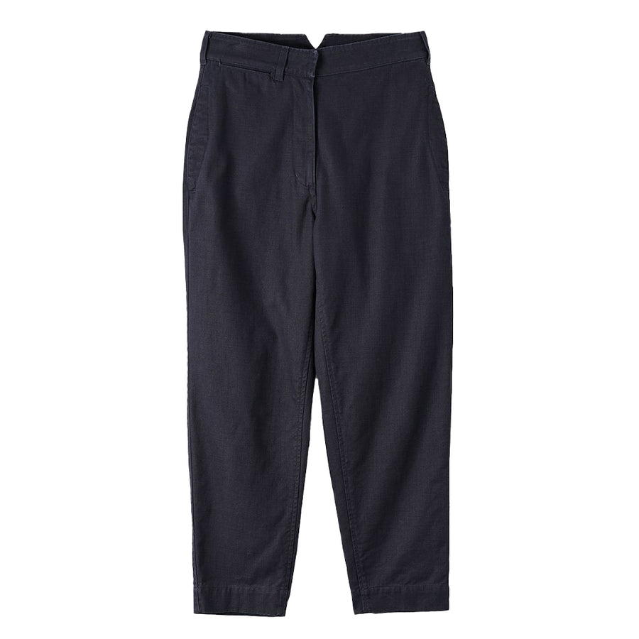 Cinched Back Tapered Trouser Indigo Twill Indigo