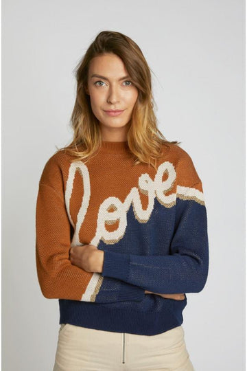 Love Sweater Eclispe Camel Englis