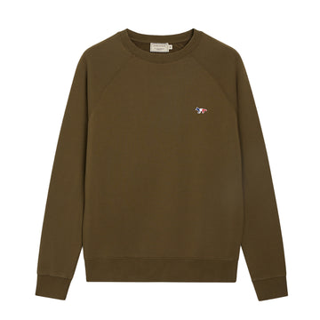Sweatshirt Tricolor Fox Patch Khaki (Men)