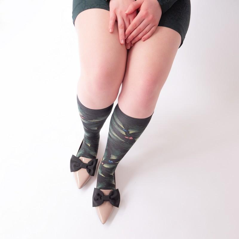 Knee-highs Conte Anglais Dark Leaf