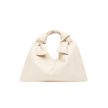 Knot Evening Bag Calf Leather Cream