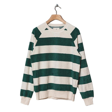 Cunha Sweatshirt Towel Green Large Stripes