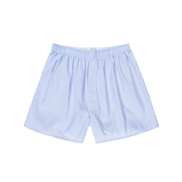 Woven Short Light Blue Micro Gingham