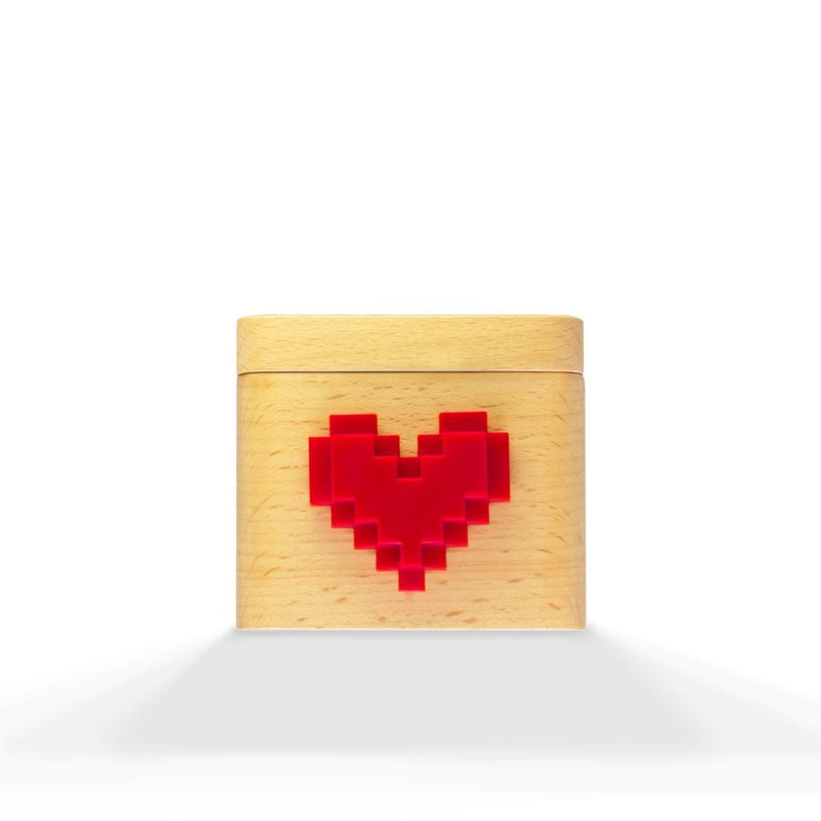 Lovebox Love box Wood + Pixel Heart (Red)