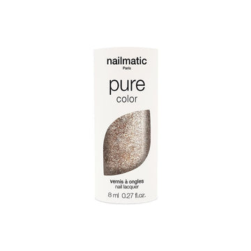 Pure Color Nail Polish Lucia  - Gold Glitter 0.27oz
