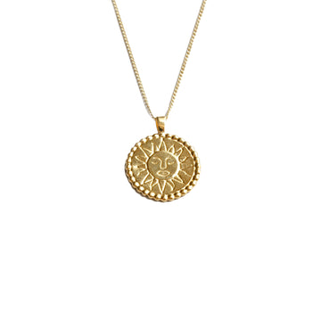 Lumen Sun 14K GP Pendant Gold Filled Chain