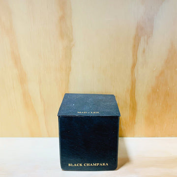 Black Block Candles 7X7 Black Champaka