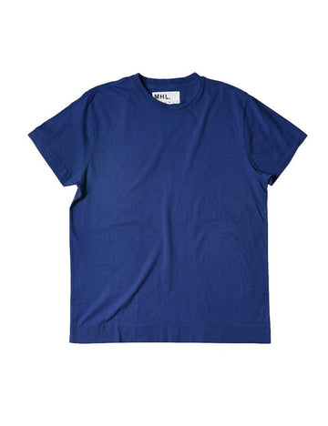 Basic T-Shirt Cotton Linen Jersey Indigo (Men)
