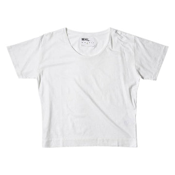Loose T-Shirt Cotton Linen Jersey White (Women)