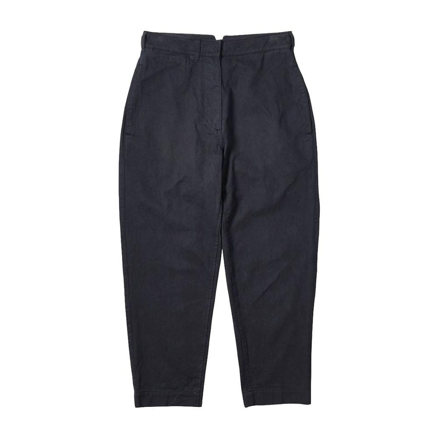 Cinched Back Tapered Trouser Workwear Cotton Drill Ink (Women)