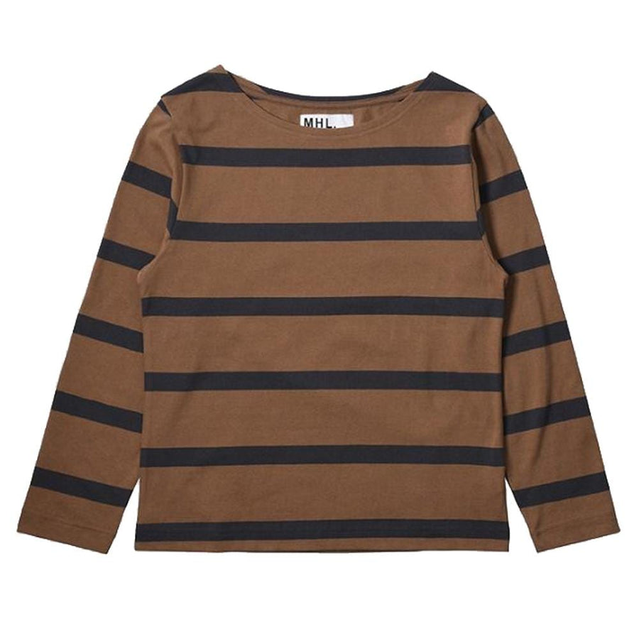 L/S Matelot Wide Stripe Dry Jersey Ginger / Charcoal (Women)