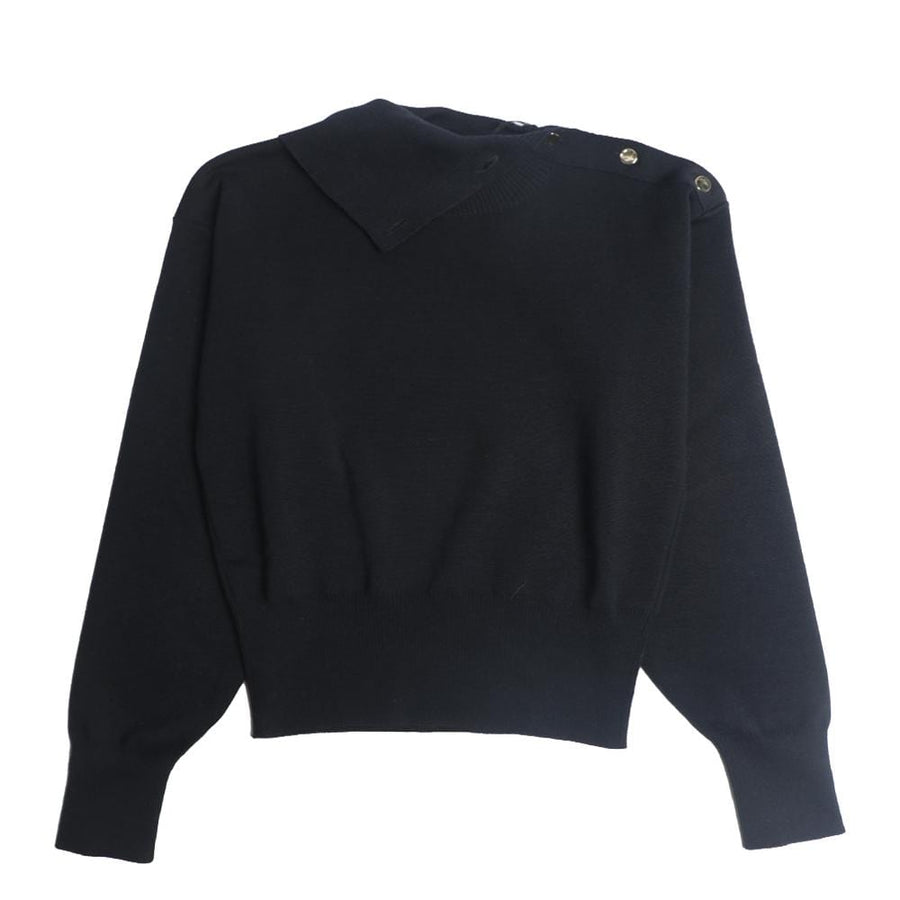 Cropped Sailor Sweater Midnight Blue (Women)