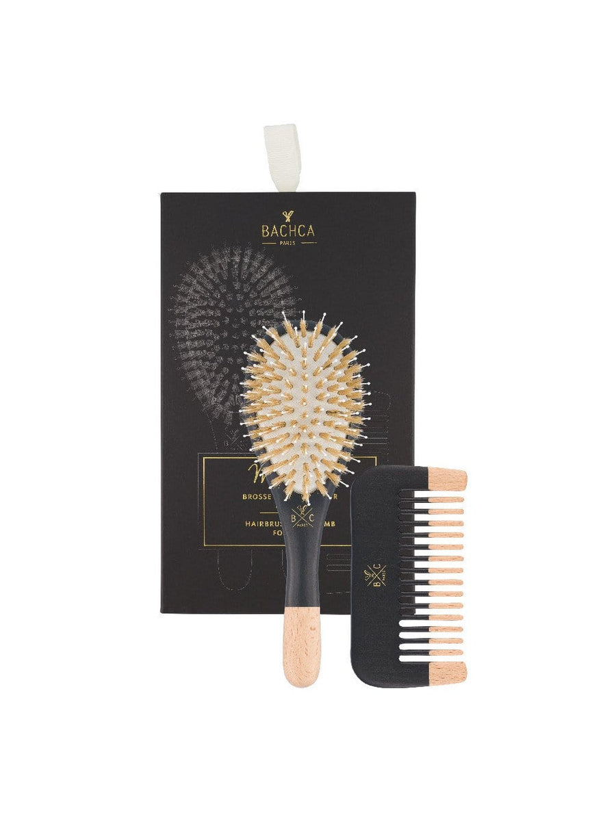 Men Kit - Brush Boar And Nylon Small Size + Wooden Comb