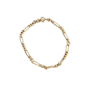Mila Small Figaro Chain Bracelet Gold Filled