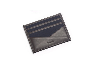 MS Cardholder Navy / Dark Brown