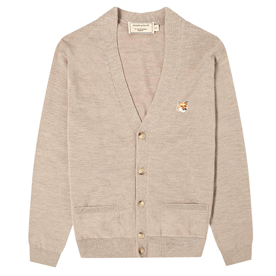 Fox Head Patch Classic Cardigan Beige Melange (unisex)