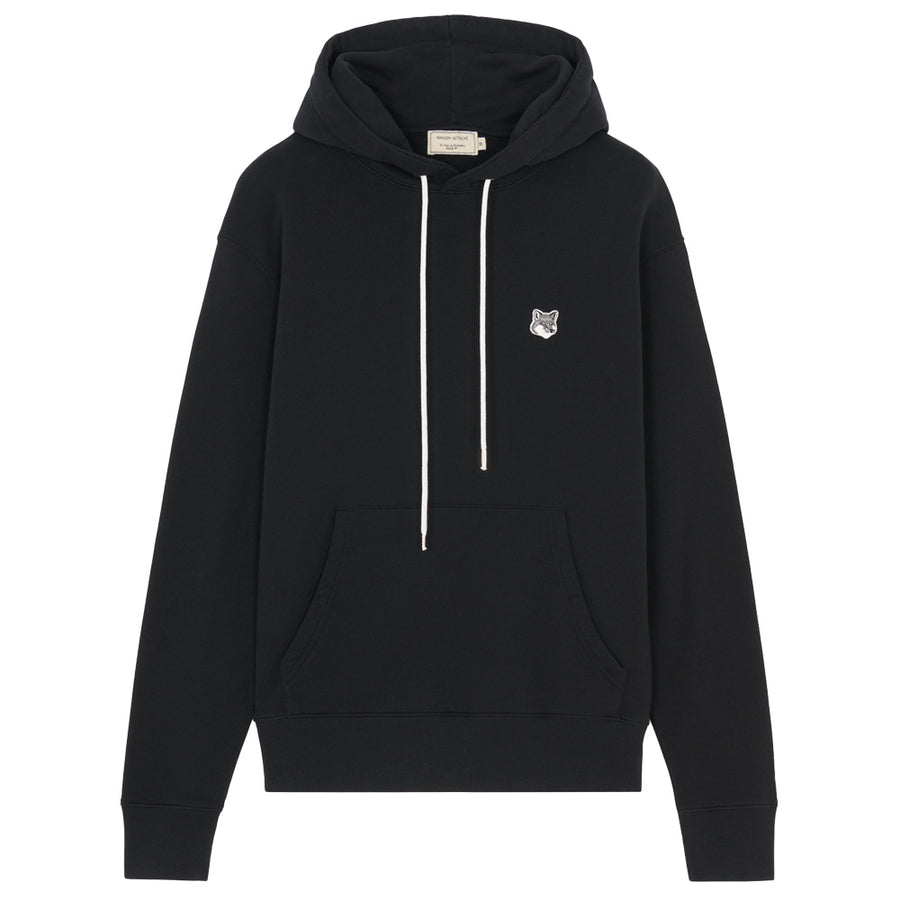Grey Fox Head Patch Classic Hoodie Black (unisex)