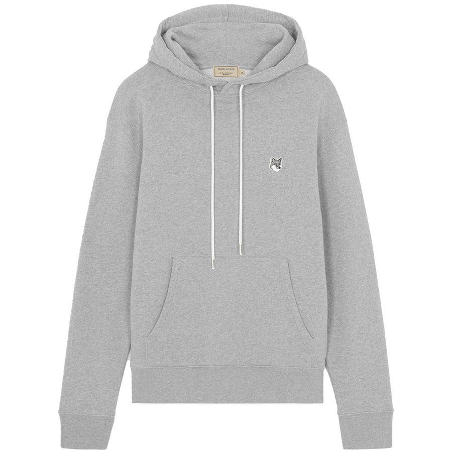 Grey Fox Head Patch Classic Hoodie Grey Melange (unisex)