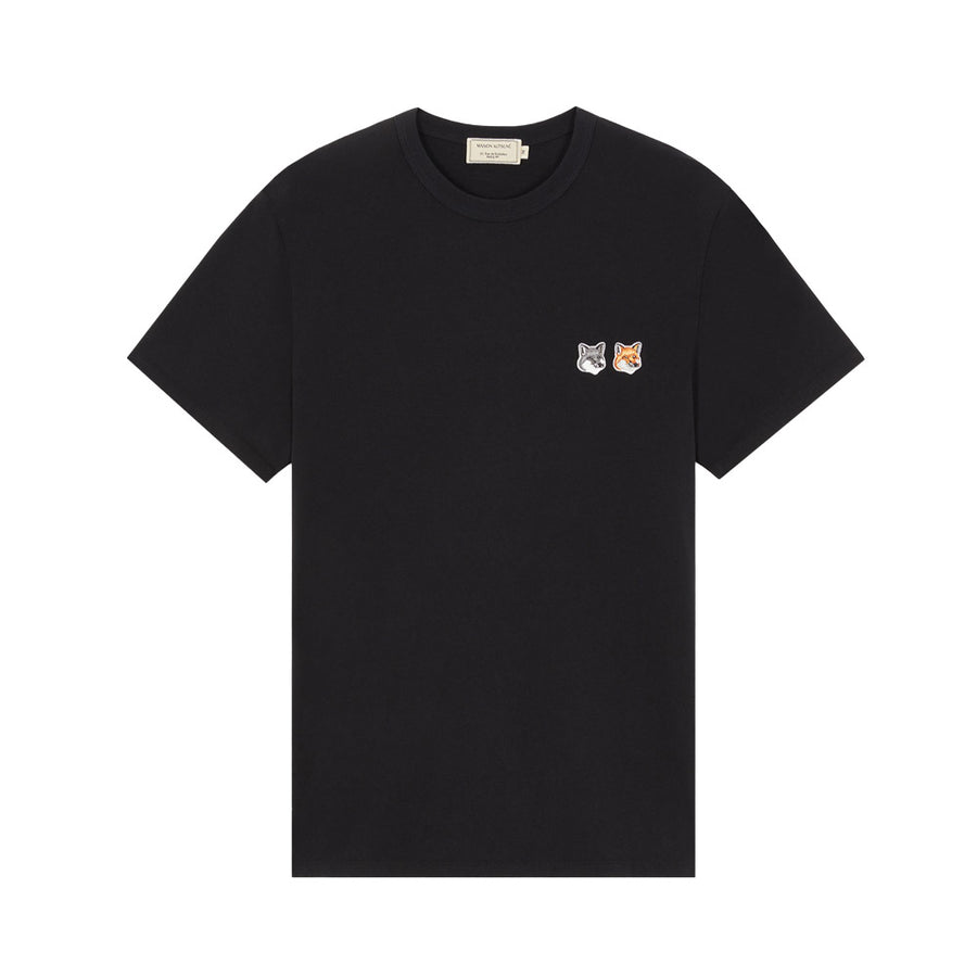 Double Fox Head Patch Classic Tee-Shirt Black (unisex)