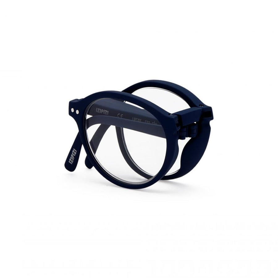 foldable reading glasses #F Navy Blue +1,00
