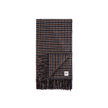 Wood Wood Kara Scarf Navy Check OS