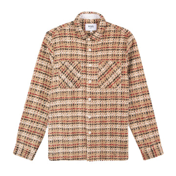 Whiting Shirt Brown Fuzzy Twill Plaid