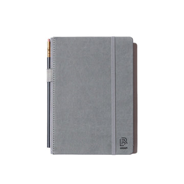 Slate Notebook Medium Grey with Dot Grid paper