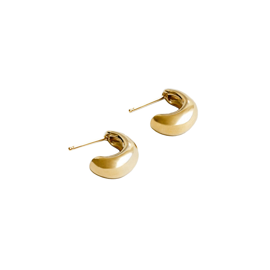 Nova Thick Hollow Hoops 14K Gold Plated Silver