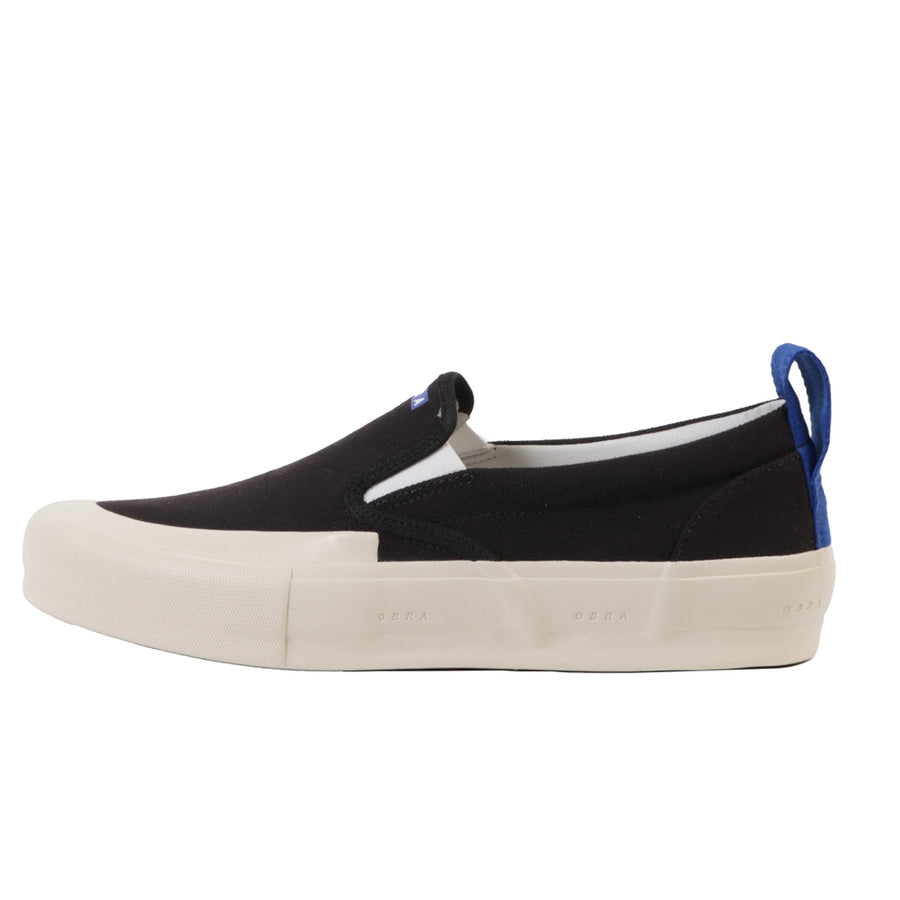 Terra Canvas Slip-On Wrap Toe Black/Off White
