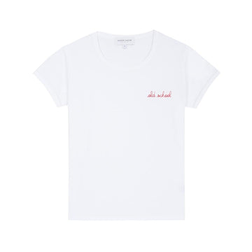 Classic Tee Shirt Old School White (women)